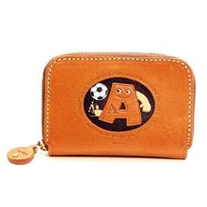 SOCCER A GENUINE LEATHER ANIMAL BUSINESS CARD CASE