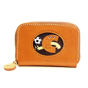 SOCCER C GENUINE LEATHER ANIMAL BUSINESS CARD CASE