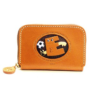 SOCCER E GENUINE LEATHER ANIMAL BUSINESS CARD CASE
