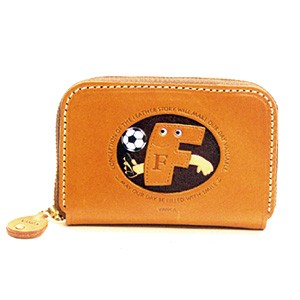 SOCCER F GENUINE LEATHER ANIMAL BUSINESS CARD CASE