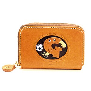 SOCCER G GENUINE LEATHER ANIMAL BUSINESS CARD CASE