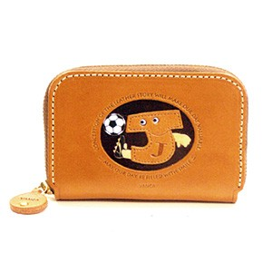 SOCCER J GENUINE LEATHER ANIMAL BUSINESS CARD CASE