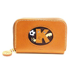SOCCER K GENUINE LEATHER ANIMAL BUSINESS CARD CASE