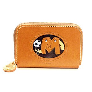 SOCCER M GENUINE LEATHER ANIMAL BUSINESS CARD CASE