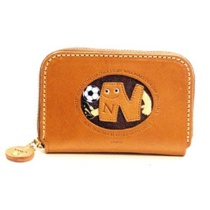 SOCCER N GENUINE LEATHER ANIMAL BUSINESS CARD CASE