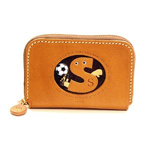 SOCCER S GENUINE LEATHER ANIMAL BUSINESS CARD CASE