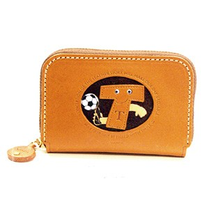 SOCCER T GENUINE LEATHER ANIMAL BUSINESS CARD CASE