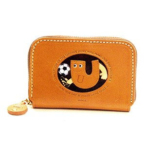SOCCER U GENUINE LEATHER ANIMAL BUSINESS CARD CASE
