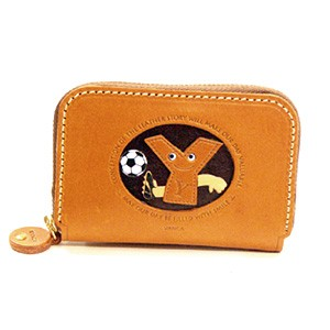 SOCCER Y GENUINE LEATHER ANIMAL BUSINESS CARD CASE