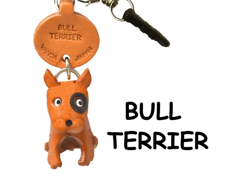 BULL TERRIER LEATHER DOG EARPHONE JACK ACCESSORY