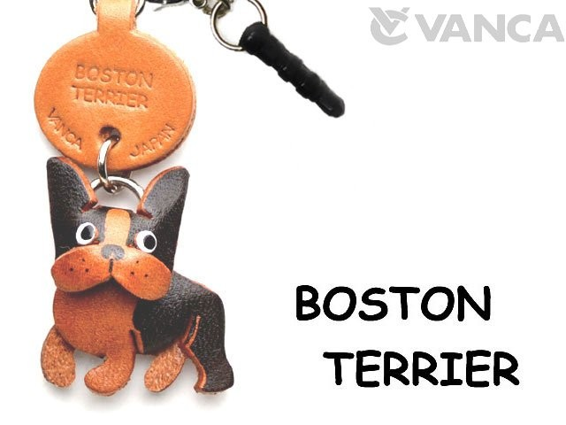 BOSTON TERRIER LEATHER DOG EARPHONE JACK ACCESSORY