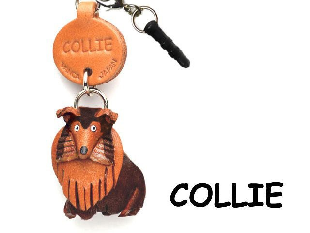 COLLIE LEATHER DOG EARPHONE JACK ACCESSORY