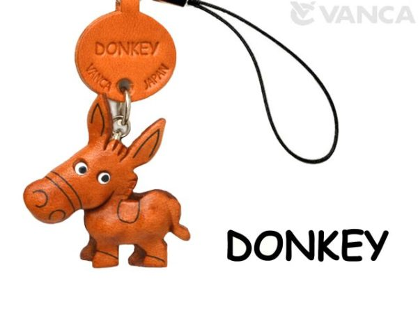 DONKEY/ASS JAPANESE LEATHER CELLULARPHONE CHARM ANIMAL