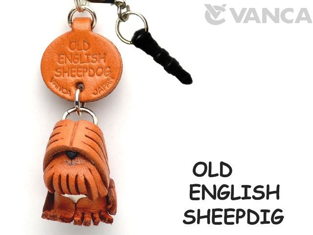 OLD ENGLISH SHEEPDOG LEATHER DOG EARPHONE JACK ACCESSORY