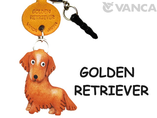 GOLDEN RETRIEVER LEATHER DOG EARPHONE JACK ACCESSORY