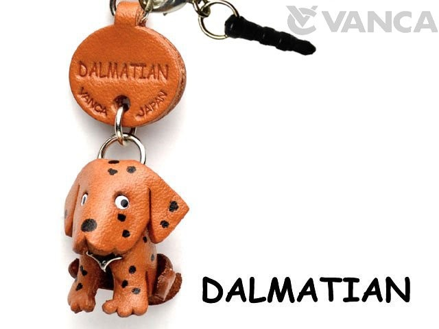 DALMATIAN LEATHER DOG EARPHONE JACK ACCESSORY