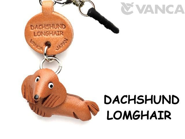 DACHSHUND LONGHAIR LEATHER DOG EARPHONE JACK ACCESSORY
