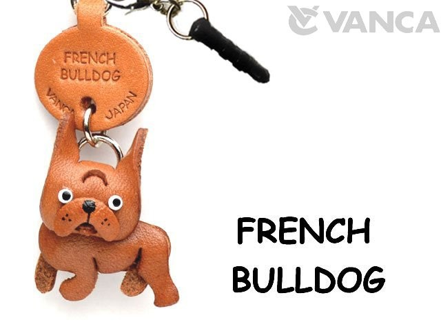 FRENCH BULLDOG LEATHER DOG EARPHONE JACK ACCESSORY