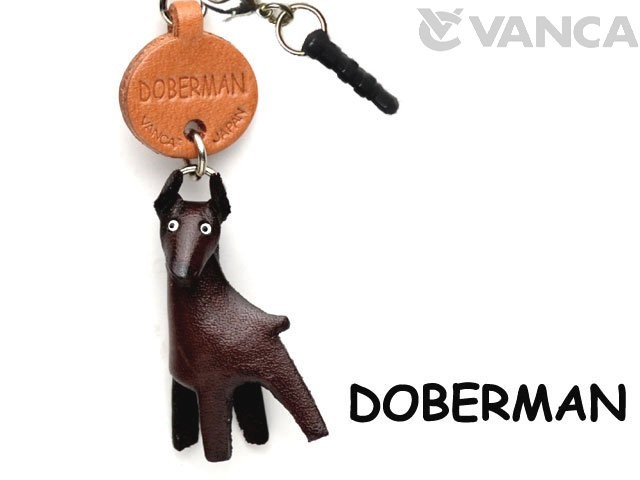 DOBERMAN LEATHER DOG EARPHONE JACK ACCESSORY