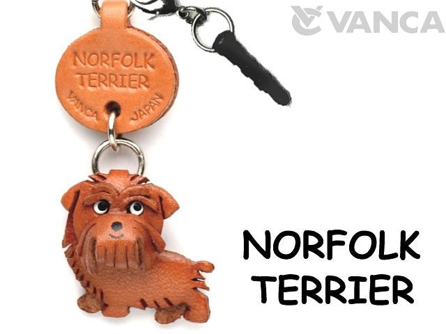 NORFOLK TERRIER LEATHER DOG EARPHONE JACK ACCESSORY