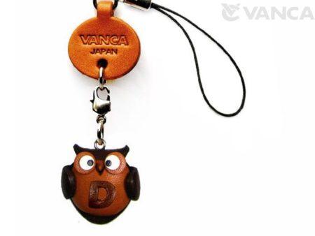 OWL D LEATHER CELLULARPHONE CHARM ALPHABET