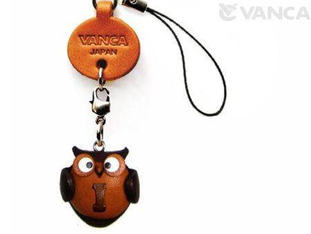 OWL I LEATHER CELLULARPHONE CHARM ALPHABET