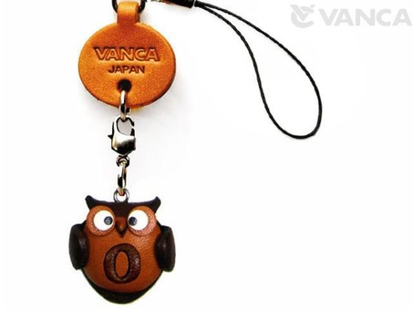 OWL O LEATHER CELLULARPHONE CHARM ALPHABET