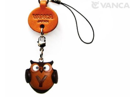 OWL Y LEATHER CELLULARPHONE CHARM ALPHABET