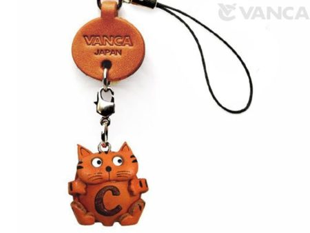 CAT C LEATHER CELLULARPHONE CHARM ALPHABET