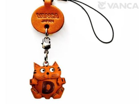 CAT D LEATHER CELLULARPHONE CHARM ALPHABET