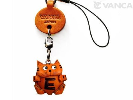 CAT E LEATHER CELLULARPHONE CHARM ALPHABET