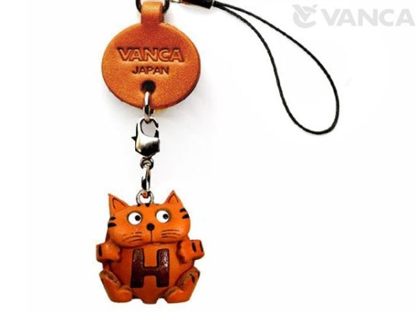 CAT H LEATHER CELLULARPHONE CHARM ALPHABET