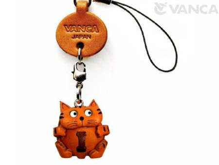 CAT I LEATHER CELLULARPHONE CHARM ALPHABET