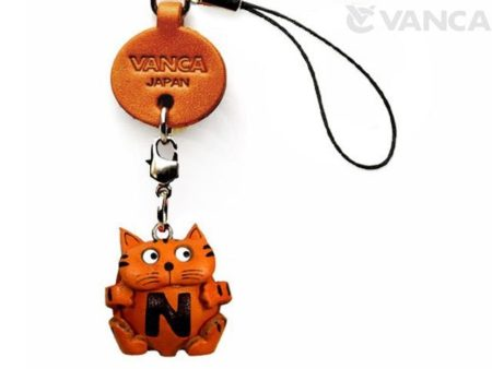 CAT N LEATHER CELLULARPHONE CHARM ALPHABET