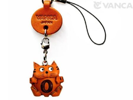 CAT O LEATHER CELLULARPHONE CHARM ALPHABET