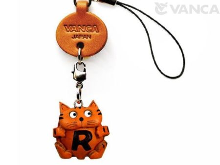 CAT R LEATHER CELLULARPHONE CHARM ALPHABET