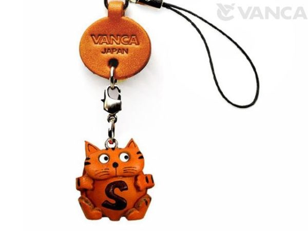 CAT S LEATHER CELLULARPHONE CHARM ALPHABET