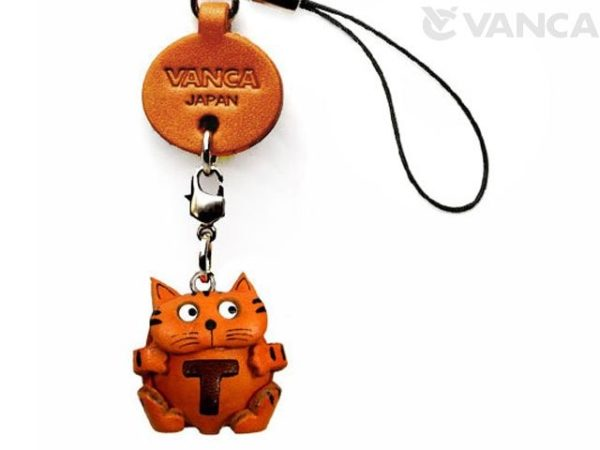CAT T LEATHER CELLULARPHONE CHARM ALPHABET