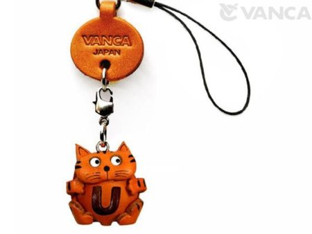 CAT U LEATHER CELLULARPHONE CHARM ALPHABET