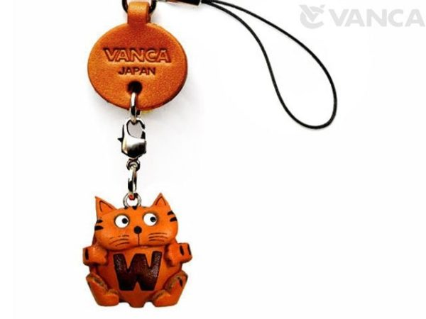 CAT W LEATHER CELLULARPHONE CHARM ALPHABET
