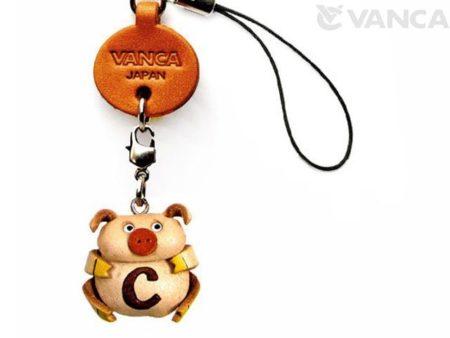 PIG C LEATHER CELLULARPHONE CHARM ALPHABET