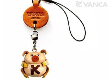 PIG K LEATHER CELLULARPHONE CHARM ALPHABET