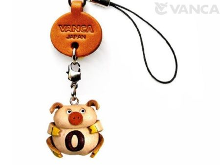 PIG O LEATHER CELLULARPHONE CHARM ALPHABET
