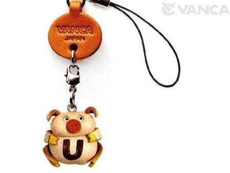 PIG U LEATHER CELLULARPHONE CHARM ALPHABET