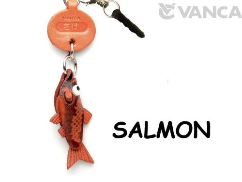 SALMON LEATHER FISH & SEA ANIMAL EARPHONE JACK ACCESSORY