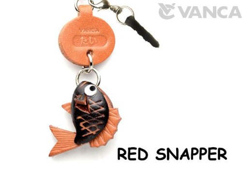 RED SNAPPER LEATHER FISH & SEA ANIMAL EARPHONE JACK ACCESSORY