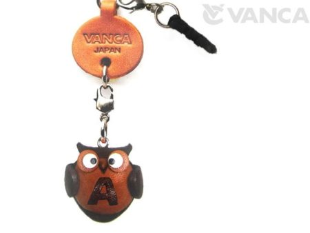 ALPHABET OWL A LEATHER ANIMAL EARPHONE JACK ACCESSORY