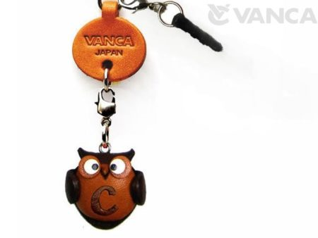 ALPHABET OWL C LEATHER ANIMAL EARPHONE JACK ACCESSORY