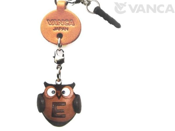ALPHABET OWL E LEATHER ANIMAL EARPHONE JACK ACCESSORY