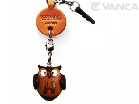 ALPHABET OWL H LEATHER ANIMAL EARPHONE JACK ACCESSORY